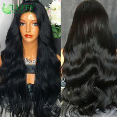 8A Silk Top Full Lace Wig Brazilian Human Hair Body Wave Glueless Lace Front Wig #LuffyWig #BodyWave