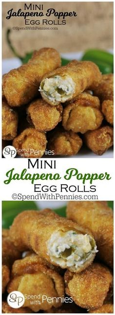 If you love Jalapeno poppers. you are going to go crazy for these! If you love Jalapeno poppers. you are going to go crazy for these! Crispy, creamy, cheesy and spicy. pretty much everything you need to concoct the perfect bite! Finger Food Appetizers, Yummy Appetizers, Appetizers For Party, Appetizer Recipes, Finger Food Recipes, Italian Appetizers, Egg Roll Recipes, Easy Recipe For Egg Rolls, Recipes Using Egg Roll Wrappers
