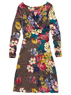 Buy Joules Monica Dress, Floral Brown online at JohnLewis.com - John Lewis