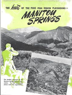 Manitou Springs Colorado Tourist Brochure c. 1940s