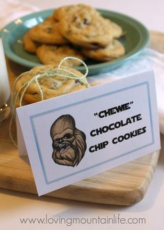 Worlds Best Chocolate Chip Cookies with Chewbacca Printable from Loving Mountain Life