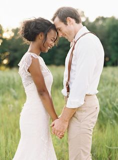 Romantic interracial couple wedding photography #love #wmbw #bwwm