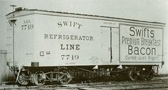 """A refrigerator car (or """"reefer"""") is a refrigerated boxcar (US) , a piece of railroad rolling stock designed to carry perishable freight at specific temperatures. Refrigerator cars differ from simple insulated boxcars and ventilated boxcars (commonly used for transporting fruit), neither of which are fitted with cooling apparatus. Reefers can be ice-cooled, come equipped with any one of a variety of mechanical refrigeration systems, or utilize carbon dioxide (either as dry ice, or in liquid…"""