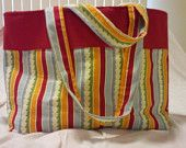 Red Striped Tote