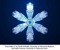 """Snowflake Model 4,"" by David Griffeath (University of Wisconsin-Madison) and Janko Gravner (University of California, Davis)"