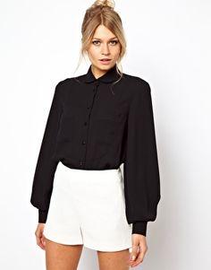 ASOS Shirt With Soft Bib And Pocket Detail