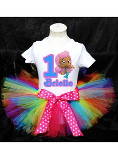 Rainbow Molly Bubble Guppies Tutu Birthday Outfit Costume. $26.99, via Etsy.