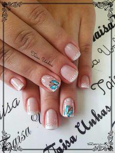 Unha delicada de Taisa unhas. Sensitive nail by Taisa unhas. Uña sensible por Taisa unhas. Unghie sensibili di Taisa unhas.