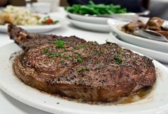 Cowboy Ribeye at Ruth's Chris. Love on a plate! Cowboy Ribeye at Ruth's Chris. Love on a plate! Rib Eye Recipes, Steak Recipes, Copycat Recipes, Gourmet Recipes, Cooking Recipes, Cowboy Ribeye, Ruth Chris Steak, Easy Beef And Broccoli, How To Grill Steak