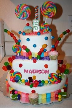 Candy Land birthday cake perfect for Bellas love of candy and new love of polka dots!!!