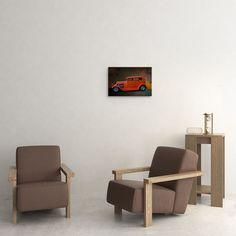 1932 Ford Car - Orange Crate on Canvas