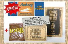 SÓ : €11.65 Onça de Tabaco 100g + Grátis 150 TUBOS Tabaco 100% Português isento de aditivos,corantes e químicos. EXCELENTES PREÇOS !  - Loja OnLine - www.PortoPrecoJusto.LojasOnLine.net