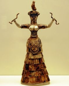 Minoan art with wrapped bell skirt & apron