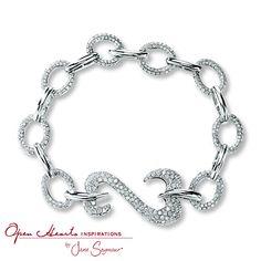 Open Hearts Inspirations By Jane Seymour Diamond Bracelet