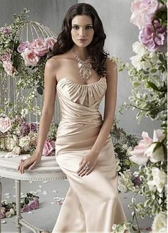 Buy discount Beautiful Satin Bridesmaid Dress In Fashion Design at Dressilyme.com