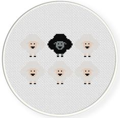 FREE Black Sheep Cross Stitch Pattern