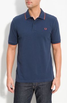 Blue+orange Fred Perry