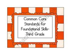 This set contains the foundational standards for the third grade reading standards.  Laminate and cut them out, add some Velcro on the back, and you are ready to display them in your classroom, office, or meeting area.