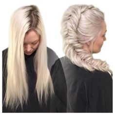 #mulpix Milky white hair and fishtail braid fit for an ice queen @wellahair #blondor in regrowth (level 6) 1:2 with 6% and a teeny tiny squeeze of 9% + 1/16 of @olaplex nr. 1 ✨ Sat under plastic wrap for 35 minutes I toned with Wella color touch 32 g 10/0 + 22 g 10/6 + 1,9% 1:2 and 1/16 Olaplex for 10 minutes in regrowth and 20 minutes in everything ❤️ Please use time on the toner for platinums, and use a lot of /0!!!! #repost @juliejakobsenhair #juliejakobsenhair #olaplex #well...
