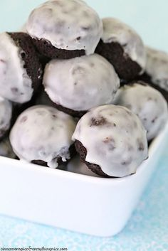 Chocolate Glazed Doughnut Hole Muffins