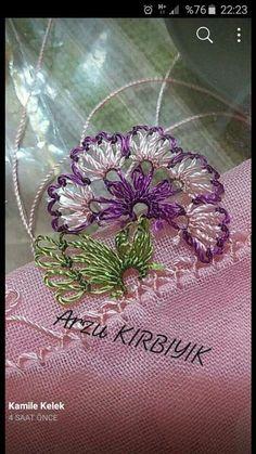 Hulyasya kaptı Needle Tatting Patterns, Bead Embroidery Patterns, Beaded Embroidery, Embroidery Stitches, Embroidery Designs, Filet Crochet, Crochet Stitches, Crochet Designs, Crochet Patterns