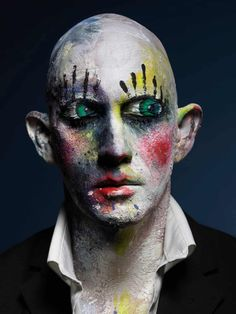 """Coulrophobia – """"Self-portrait Perou. Make-up: Loni Bauer What's Makeup ? What is Makeup ? In general, what's makeup ? What Is Makeup, Crazy Makeup, Celebrity Photography, London Photography, Fairy Makeup, Mermaid Makeup, Surrealism Photography, Portrait Photography, Image Photography"""