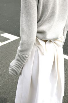 Pale heather & ivory outfit