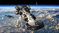 The Tantive IV Orbiting a Planet with X-Wing Escort Star Wars Rpg, Star Wars Rebels, Nave Star Wars, Star Wars Ships, Lego Star Wars, Star Trek, Star Wars Wallpaper, Star Wars Concept Art, Star Destroyer