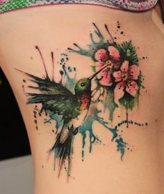 watercolor#tattoo#sweetcolors