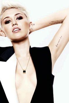 Miley Cyrus tattoos script