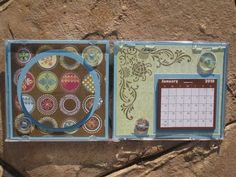 recycle CD case into calendar with photo frame