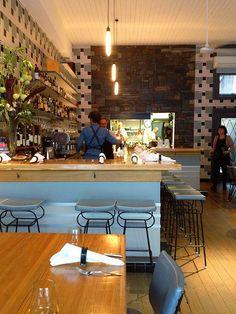 Estelle Bar & Kitchen, Northcote, Melbourne, Australia. Melbourne Food, Melbourne Australia, Bar Kitchen, Coffee Shops, Restaurants, Desk, Table, Furniture, Home Decor