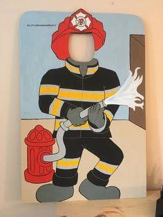 Fireman Party, Firefighter Birthday, Fireman Sam, Cumple Paw Patrol, Kids Photo Props, Man Crafts, Twin Birthday, Paw Patrol Birthday, Trunk Or Treat