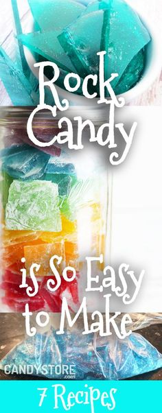 """Rock Candy is super eaasy to make. Try the Frozen themed rock candy or """"ice candy"""" and have a fun #diy project with the kids."""
