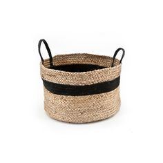 Basket By Boo Jute Natural Black