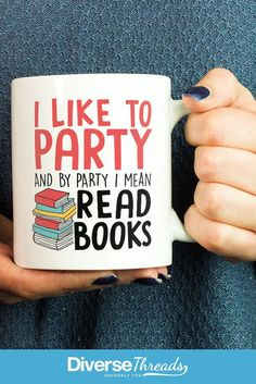 Does your idea of a party include reading a book? Perfect for any book lovers out there :)