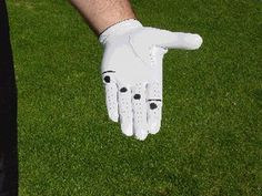 Here is a step-by-step guide to the correct way for golfers to take their grip of the club, starting with the lead (or top) hand.: Follow the Dots