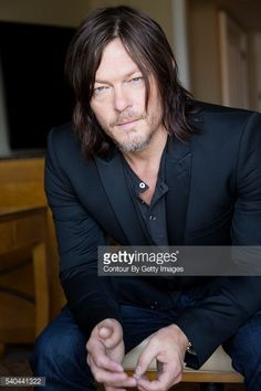News Photo : Actor Norman Reedus is photographed for Los...