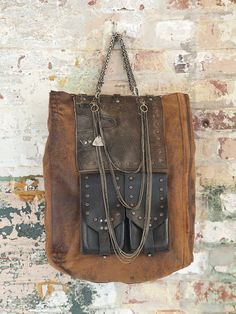 ☯☮ॐ American Hippie Bohemian Style ~ Boho Bag, Leather Free People Silent People Janka Bag, £625.00!