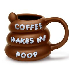 Lets everyone know that your cup of joe does two things for you: wakes you up and makes you poo! Poo Coffee Mug. White Elephant Gifts Worth Fighting For. Inspiration for finding the perfect White Elephant gift ideas, Yankee Swap gift ideas, creative gift ideas, funny gift ideas, hilarious gift ideas, great gag gifts, extremely unusual gifts, LOL gifts, laugh out loud gifts.