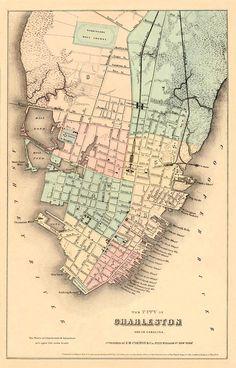 Antique Charleston Map