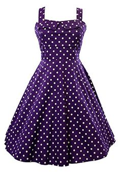 Sidecca Retro 1950s Polka Dot Empire Swing Dress-Purple-Small Sidecca http://www.amazon.com/dp/B00LIYDU36/ref=cm_sw_r_pi_dp_AiA3ub0KFR515