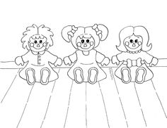 Rag Doll Friends Coloring Page