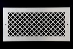 Diamond metal vent cover grille