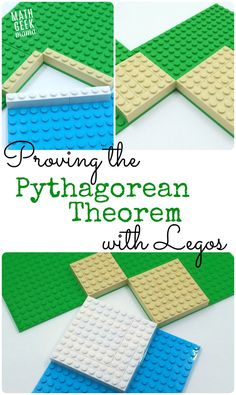 Theorem Lego Proof This is a great, hands-on way to explore triangles, area and prove the pythagorean theorem!This is a great, hands-on way to explore triangles, area and prove the pythagorean theorem! Math For Kids, Fun Math, Math 8, Math Tutor, Math Resources, Math Activities, Homeschooling Resources, Pythagorean Theorem, 8th Grade Math