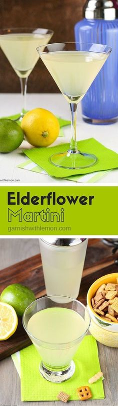 This Elderflower Martini - made with gin, vodka & St. Germain Liqueur - is one of our most requested cocktail recipes. Make it batch style for groups! ~ http://www.garnishwithlemon.com