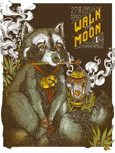 Walk the Moon Poster Minneapolis 2015 by  Erica Williams