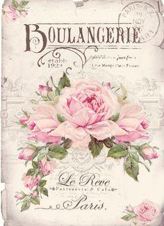 FOR PERSONAL USE Boulangerie vintage Digital collage P1022