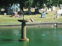 Albany Rural Cemetery - Beyond The Graves: Restoration Work Needed on Cypress Pond Cemetery, Pond, Fountain, Restoration, Island, Outdoor Decor, Graveyards, Miniatures