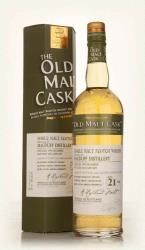 MACDUFF OLD MALT CASK 21 YEAR OLD:  Distilled at Macduff in 1990, this 21 year old single cask highland whiskey was bottled by Douglas Laing as part of their Old Malt Cask series in 2011.  Nose, gristy and sweet, thick, rich with notes of boiled sweets, wine gums, peppermint.  Palate, stewed fruits, vanilla and apple crumble. Manuka honey, cinnamon and cedar.  Finish, long and spiced with notes of lemon zest and rhubarb.